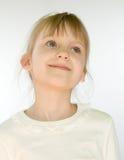 Portrait de plan rapproché de petite fille photo stock
