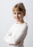 Portrait de plan rapproché de petite fille image stock