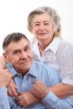 Portrait de plan rapproché des couples pluss âgé de sourire Image libre de droits