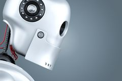 Portrait de plan rapproché de robot illustration 3D Contient le chemin de coupure illustration de vecteur