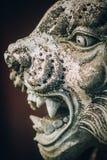 Portrait de plan rapproché de sculpture animale traditionnelle bouddhiste indoue photo libre de droits