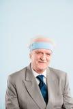 Fond élevé de bleu de définition d'homme personnes drôles de portrait de vraies Photographie stock libre de droits