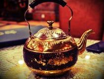 Portrait de pot de thé Image libre de droits