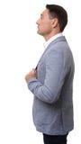 Portrait de profil d'un homme d'affaires, d'isolement images stock