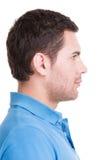 Portrait de profil de plan rapproché d'homme bel. photo libre de droits