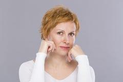 Portrait de quarante ans de femme Photographie stock