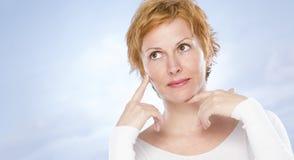 Portrait de quarante ans de femme Photo stock