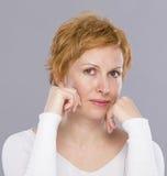 Portrait de quarante ans de femme Images libres de droits