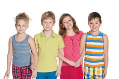 Portrait de quatre enfants Photos libres de droits