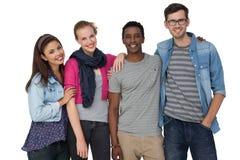 Portrait de quatre jeunes amis heureux Photo libre de droits