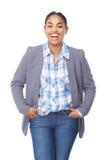 Portrait de rire attrayant de jeune femme photographie stock