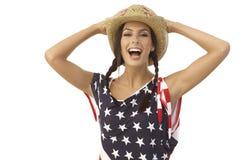 Portrait de rire la fille américaine photo libre de droits
