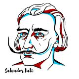 Portrait de Salvador Dali illustration libre de droits