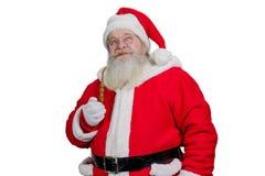 Portrait de Santa Claus avec le tuyau Photos libres de droits