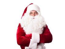 Portrait de Santa Claus heureuse Photographie stock libre de droits