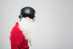 Portrait de Santa Claus heureuse avec un sac énorme Photo libre de droits