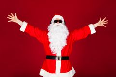 Portrait de Santa enthousiaste Image libre de droits