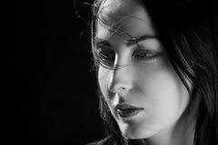 Portrait de soufflement de cheveux photographie stock libre de droits