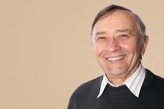 Portrait de sourire heureux d'homme supérieur Photo libre de droits