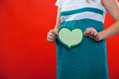 Portrait de studio d'un beau jeune enceinte Image libre de droits
