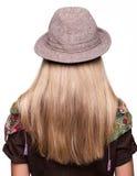 Portrait de studio de jeune femme d'arrière Photos stock