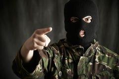 Portrait de terroriste Addressing Camera images libres de droits