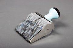 Portrait de texture détaillée d'un tampon en caoutchouc, alpha, nombres Photo libre de droits