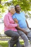 Portrait de tissu courant de port de couples supérieurs d'Afro-américain Image stock