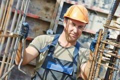 Portrait de travailleur de la construction Photographie stock libre de droits
