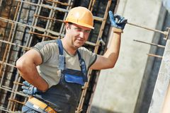 Portrait de travailleur de la construction Photo stock