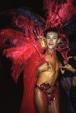 Portrait de travesti pendant le carnaval, Brésil Images stock