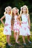 Portrait de trois amies Photos libres de droits