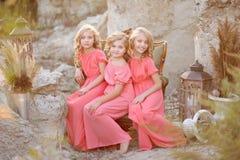 Portrait de trois amies Images libres de droits