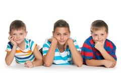 Portrait de trois enfants Images stock