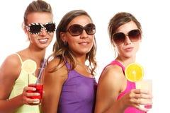 Portrait de trois filles Photos stock