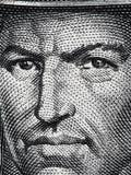 Portrait de Tupac Amaru II sur des Péruviens 50 clo 1977 de billet de banque de semelles Images libres de droits