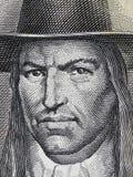 Portrait de Tupac Amaru II sur des Péruviens 50 clo 1977 de billet de banque de semelles Photos libres de droits
