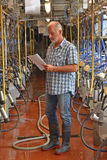 Portrait de vache à agriculteur Image stock