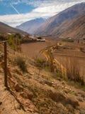 Portrait de vallée d'Elqui Images libres de droits