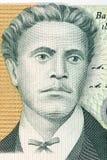 Portrait de Vasil Levski d'argent bulgare Photo libre de droits