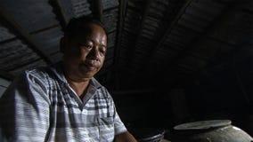 Portrait de vieil homme chinois yunnan La Chine images libres de droits