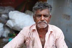 Portrait de vieil homme indien Photo libre de droits