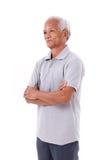 Portrait de vieil homme supérieur asiatique Photo libre de droits