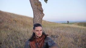 Portrait de Viking Warrior masculin médiéval Photo libre de droits
