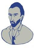 Portrait de Vincent van Gogh Photo stock