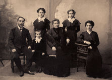 Portrait de vintage, 1911 ans Image libre de droits