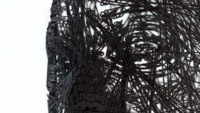 Portrait de visage tête du wireframe 3D Images libres de droits