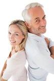 Portrait de vue de côté des couples mûrs heureux Images libres de droits