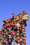 Portrait of decorated camel at Desert Festival, Jaisalmer, India Royalty Free Stock Photography