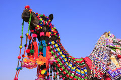 Portrait of decorated camel at Desert Festival, Jaisalmer, India Stock Photos